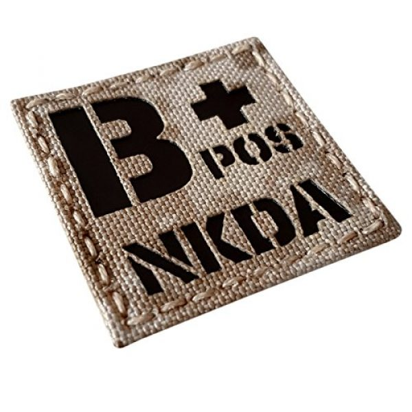 Tactical Freaky Airsoft Morale Patch 5 AOR1 Tan Digital Desert Infrared IR BPOS NKDA B+ Blood Type 2x2 Tactical Morale Fastener Patch