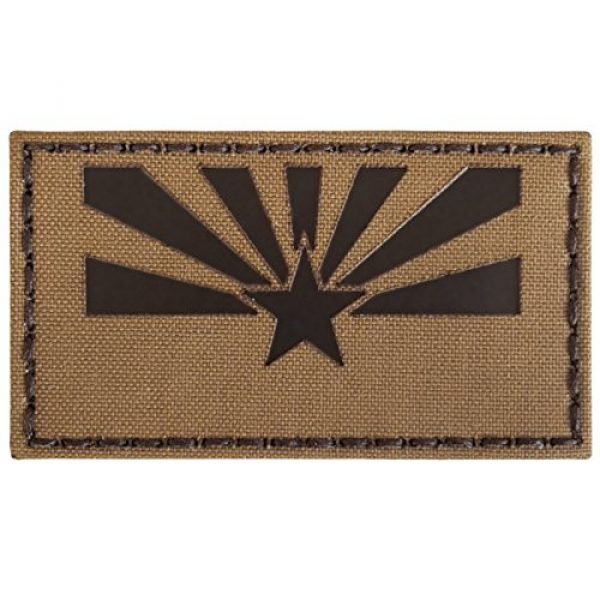 Tactical Freaky Airsoft Morale Patch 5 Coyote Brown Tan Infrared IR Arizona Flag 3.5x2 IFF Tactical Morale Fastener Patch
