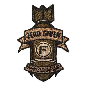 F-Bomb Morale Gear Airsoft Morale Patch 1 Zero Given F-Bomb Embroidered Morale Patch