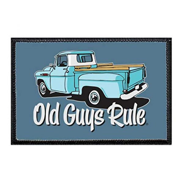 P PULLPATCH Airsoft Morale Patch 1 Old Guys Rule - Kept On Truckin Morale Patch   Hook and Loop Attach for Hats, Jeans, Vest, Coat   2x3 in   by Pull Patch