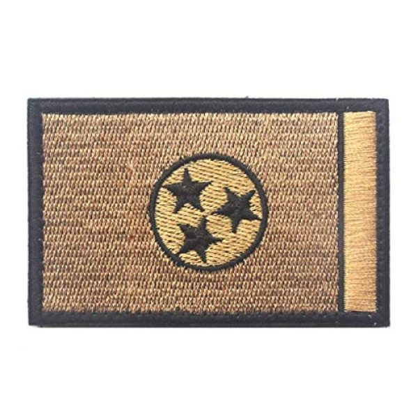 Tactical Embroidery Patch Airsoft Morale Patch 1 State Flag of Tennessee Embroidery Patch Military Tactical Morale Patch Badges Emblem Applique Hook Patches for Clothes Backpack Accessories