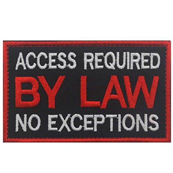 WUXL Airsoft Morale Patch 1 WUXL Patch Service Dog Access Required by Law No Exceptions Vests/Harnesses Emblem Embroidered Fastener Hook & Loop PatchService Dog -by Law