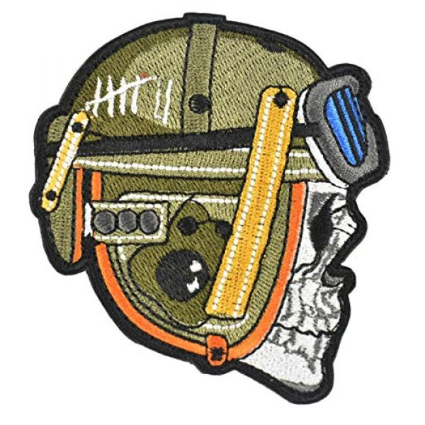 JFFCE Airsoft Morale Patch 1 Tactical Military Morale Patch Spartan Camouflage Tank Soldiers, Pilots Emblem Embroidered Fastener Hook & Loop Patch