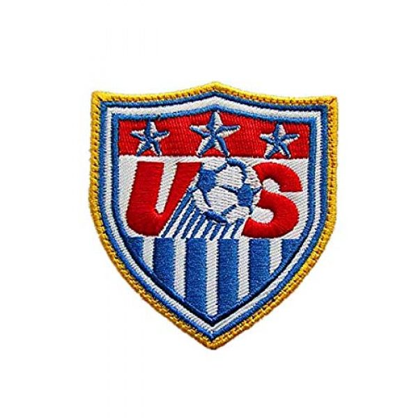 Embroidery Patch Airsoft Morale Patch 1 USA United States World Cup Football Soccer Club Team Military Hook Loop Tactics Morale Embroidered Patch