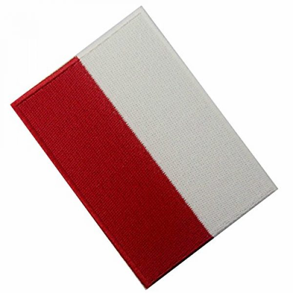 EmbTao Airsoft Morale Patch 4 Poland Flag Embroidered Emblem Polish Iron On Sew On Polska National Patch