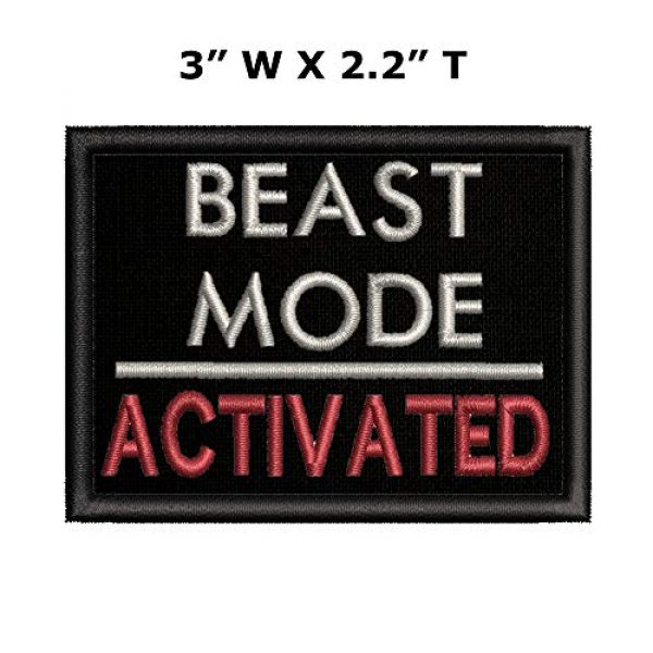 """Appalachian Spirit Airsoft Morale Patch 2 Beast Mode On Military Morale Patch Tactical Emblem Iron/Sew On Patches-3.5x2.2"""""""