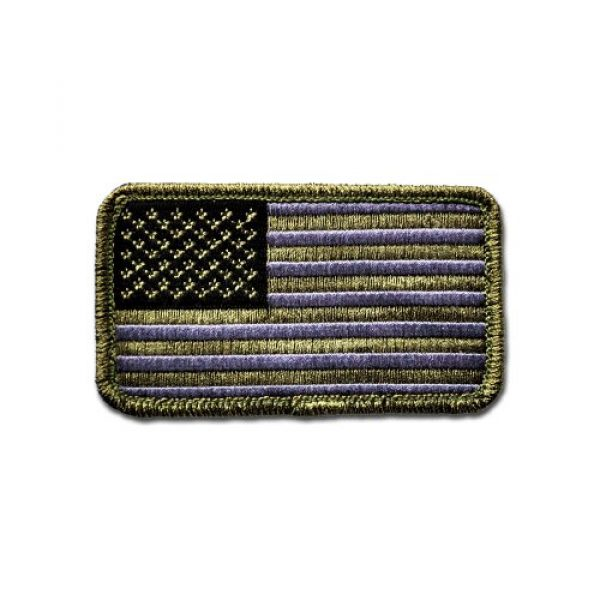 BASTION Airsoft Morale Patch 1 BASTION Morale Patches (USA Flag, ACU) | 3D Embroidered Patches with Hook & Loop Fastener Backing | Well-Made Clean Stitching | Military Patches Ideal for Tactical Bag, Hats & Vest