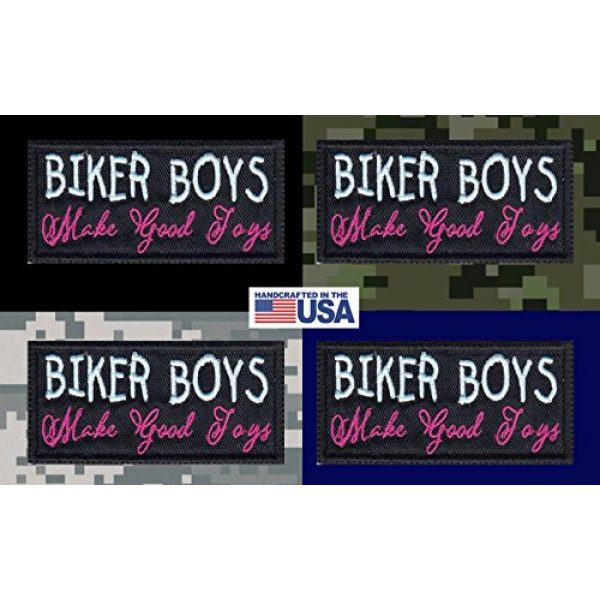 Tactical Patch Works Airsoft Morale Patch 3 Biker Boys Make Good Toys Biker Funny Motorcycle Patch