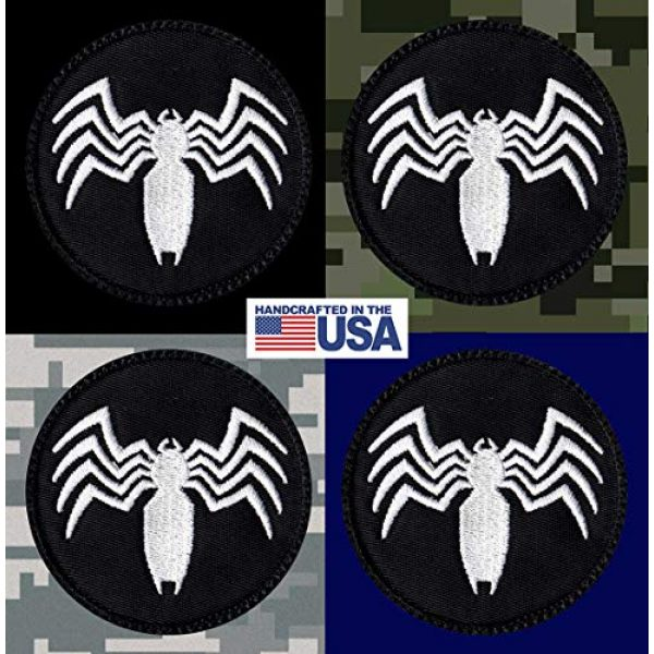 Tactical Patch Works Airsoft Morale Patch 3 Venom Spider Shape Logo Patch