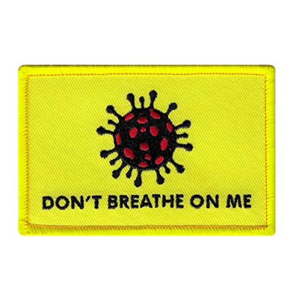 Cypress Collectibles Embroidered Patches Airsoft Morale Patch 2 Don't Breathe on Me Gadsden Flag Parody Embroidered Iron-On Patch