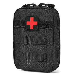 DYJ Tactical Pouch 1 DYJ EMT Pouch MOLLE Ifak Pouch Compact Tactical MOLLE Medical First Aid Kit Utility Pouch