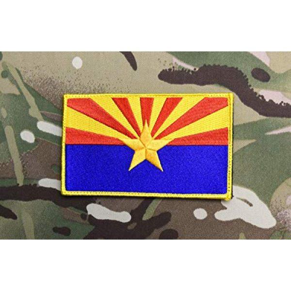 "BritKitUSA Airsoft Morale Patch 2 BritKitUSA Large 3""x5"" Arizona State Flag Morale Patch Grand Canyon State AZ Ditat Deus Hook & Loop Backing"