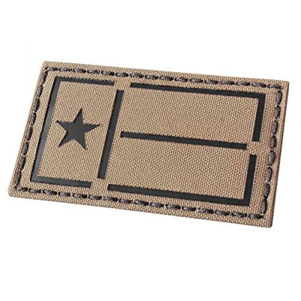 Tactical Freaky Airsoft Morale Patch 4 IR Coyote Tan Texas Lone Star Flag 2x3.5 IFF Tactical Morale Touch Fastener Patch
