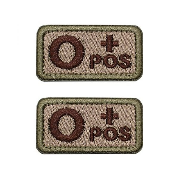 """EJG Airsoft Morale Patch 1 EJG 2-Piece Tactical Blood Type Velcro Patch, Various Styles in Embroidery & PVC, O+ O- Positive Negative, 2""""x1"""" Military Medic Navy Army Morale Patch for Tactical Gear Battle Uniform (Style 03)"""
