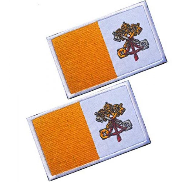 Tactical Embroidery Patch Airsoft Morale Patch 1 2pcs Vatican Flag Embroidery Patch Military Tactical Morale Patch Badges Emblem Applique Hook Patches for Clothes Backpack Accessories