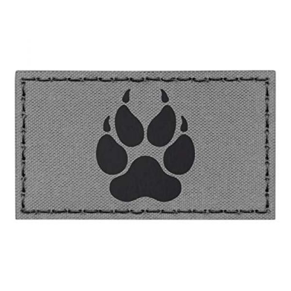 Tactical Freaky Airsoft Morale Patch 1 IR K9 Dog Handler Wolf Gray Grey Paw K-9 2x3.5 Tactical Morale Fastener Patch