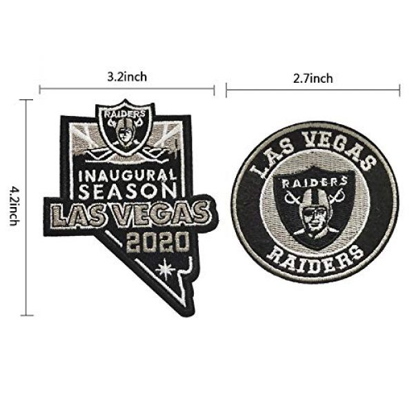 Janhop Airsoft Morale Patch 2 Janhop 2pcs Compatible Raiders Patch, 2020 Inaugural Season Tactical Hook-Backed Morale Patch Football Team Logo Jersey