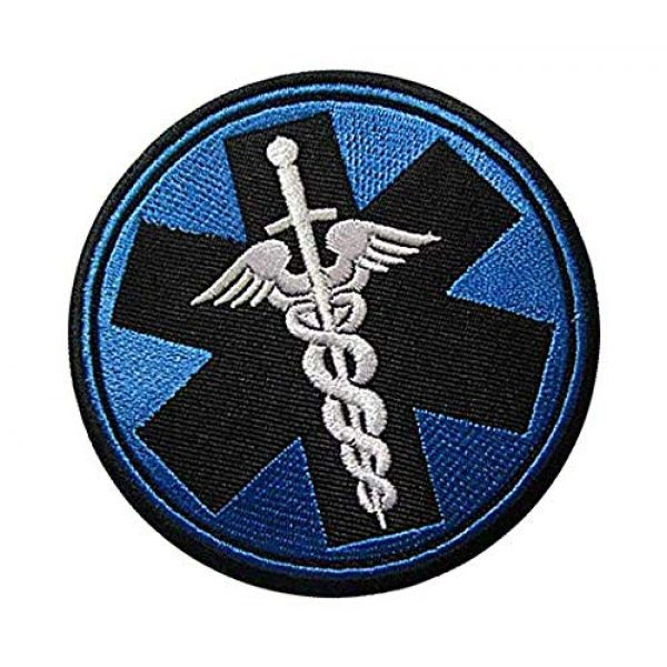 Embroidery Patch Airsoft Morale Patch 2 Medic Corpsman Caduceus Military Hook Loop Tactics Morale Embroidered Patch