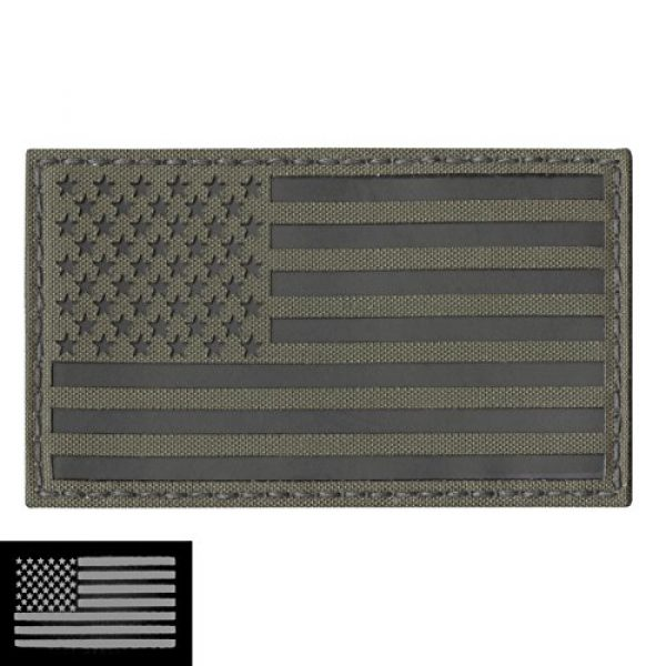 Tactical Freaky Airsoft Morale Patch 3 Big 3x5 Ranger Green Infrared IR USA American Flag IFF Tactical Morale Hook&Loop Patch