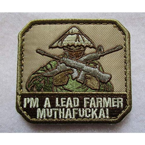 Embroidered Patch Airsoft Morale Patch 1 I'm A Lead Farmer MUTHAFCKA 3D Tactical Patch Military Embroidered Morale Tags Badge Embroidered Patch DIY Applique Shoulder Patch Embroidery Gift Patch