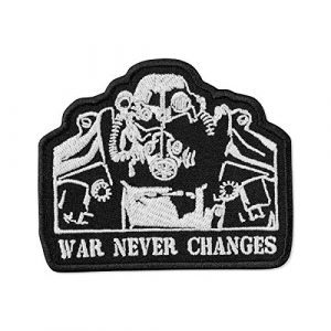 """Embrosoft Airsoft Morale Patch 1 Fallout T-45d Power Armor Silhouette Embroidered Patch Iron On (3.5"""" x 3"""")"""