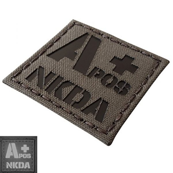 Tactical Freaky Airsoft Morale Patch 3 Ranger Green Infrared IR APOS NKDA A+ Blood Type 2x2 Tactical Morale Fastener Patch