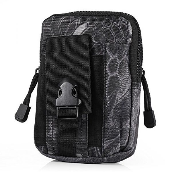 AODD Tactical Pouch 1 AODDING Tactical Pouch Bag, Waterproof Outdoor Sports Tactical Molle Waist Bag, Mini Size and Easy to Carry, Strong, Practical, Security Carry Case for Camping Hiking Mountaineering