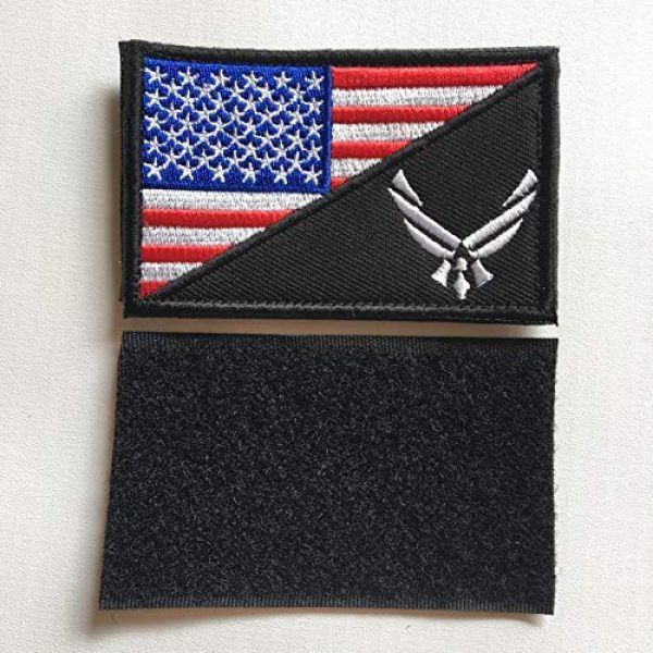 Hng Kiang Hu Airsoft Morale Patch 4 USAF Flag USA Air Force Logo Embroidered Military Tactical Hook & Loop Decorative Patch