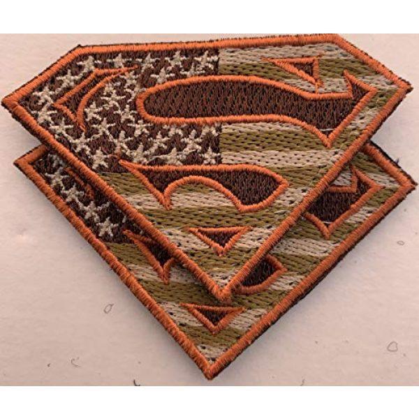 Equinox MR Airsoft Morale Patch 2 Bundle 2 pieces - American Superman large Patches Military Colors