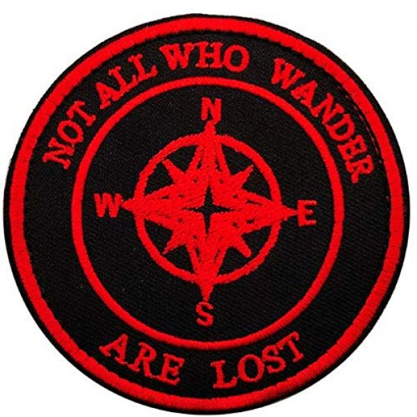 Tactical Embroidery Patch Airsoft Morale Patch 1 Not All Who Wander are Lost Embroidery Patch Military Tactical Morale Patch Badges Emblem Applique Hook Patches for Clothes Backpack Accessories