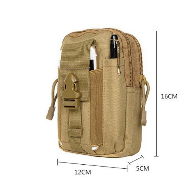BlueSunshine Tactical Pouch 3 BlueSunshine Multipurpose Tactical Cover Smartphone Tan Camo Holster EDC Security Pack Carry Case Pouch Belt Waist Bag Gadget Money Pocket for iPhone 6s 7 Samsung Galaxy S7 Note5 LG G5