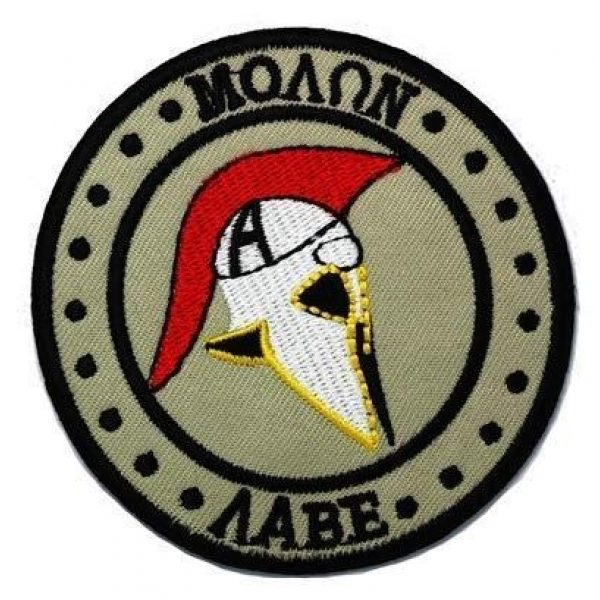 Tactical Embroidery Patch Airsoft Morale Patch 1 Molon Labe Embroidery Patch Military Tactical Morale Patch Badges Emblem Applique Hook Patches for Clothes Backpack Accessories