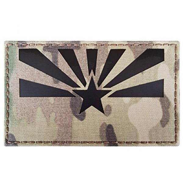 Tactical Freaky Airsoft Morale Patch 4 Big 3x5 Multicam Infrared IR Arizona Flag IFF Tactical Morale Fastener Patch