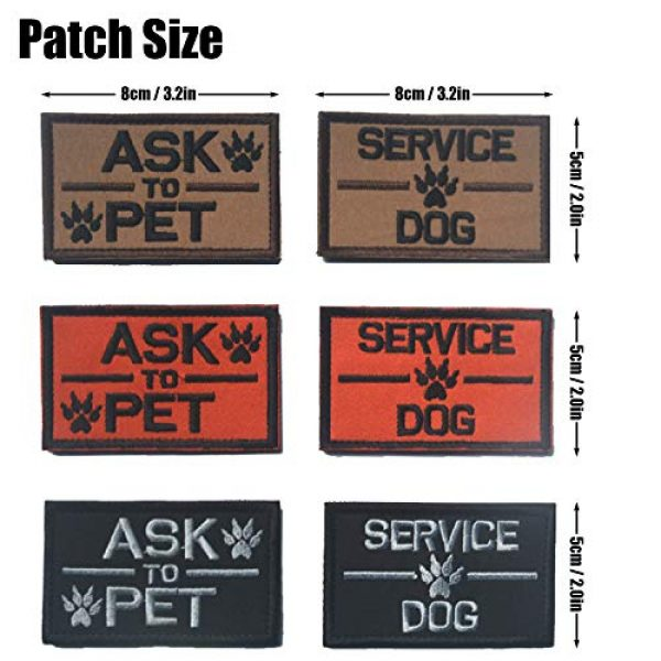 GrayCell Airsoft Morale Patch 2 2 Pack Homiego Ask to Pet Embroidered Tactical Morale Patch Badge for Dog Harness & Vest