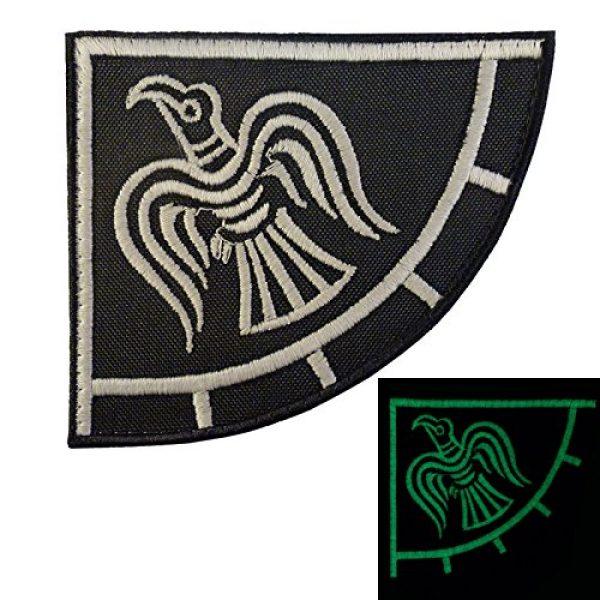 LEGEEON Airsoft Morale Patch 1 LEGEEON Glow Dark Rare Viking Raven Banner Odin God of War Embroidered Fastener Patch