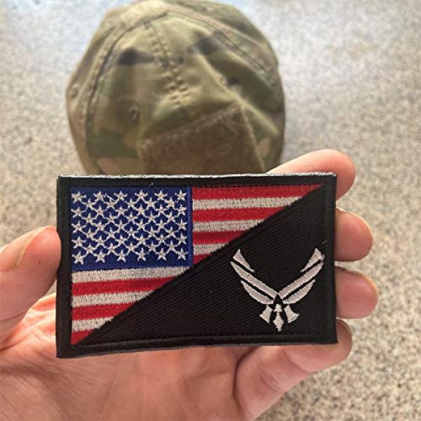 Backwoods Barnaby Airsoft Morale Patch 2 Backwoods Barnaby U.S. Air Force/American Flag USAF Military Morale Patch with Hook & Loop