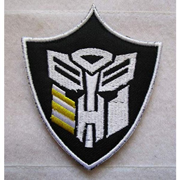 Embroidered Patch Airsoft Morale Patch 1 Autobot Transformers Head 3D Tactical Patch Military Embroidered Morale Tags Badge Embroidered Patch DIY Applique Shoulder Patch Embroidery Gift Patch