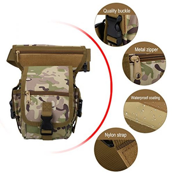 VGEBY Tactical Pouch 4 VGEBY Hunting Leg Pouch, Camouflage Drop Leg Thigh Packs Tactical Waist Pouch Satchel for Motorcycle Hunting Riding