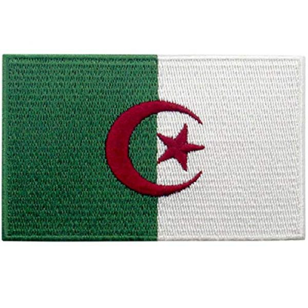 EmbTao Airsoft Morale Patch 1 EmbTao Algeria Flag Patch Embroidered National Morale Applique Iron On Sew On Algerian Emblem
