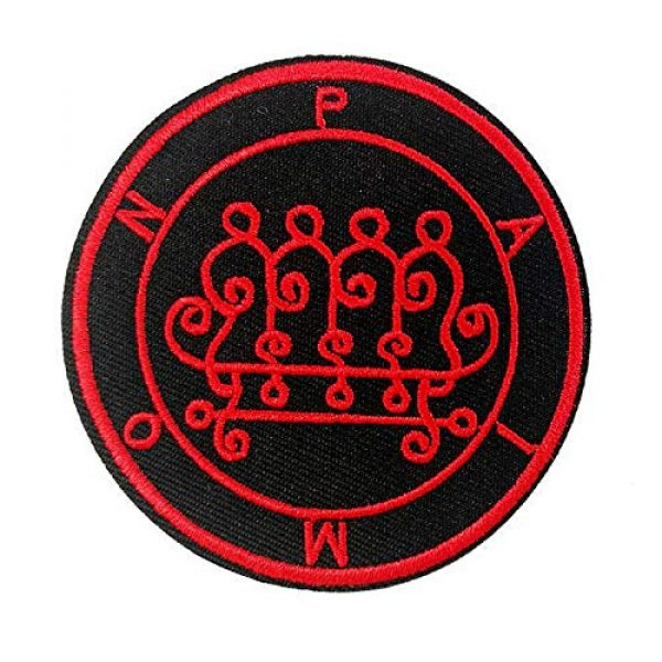 Cute-Patch Airsoft Morale Patch 1 Seal of Paimon Sigil Talisman Demon Circle Embroidered Iron On Sew On Patch