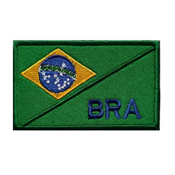 Tactical Embroidery Patch Airsoft Morale Patch 1 Brazil Flag Embroidery Patch Military Tactical Morale Patch Badges Emblem Applique Hook Patches for Clothes Backpack Accessories