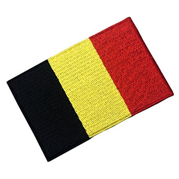 EmbTao Airsoft Morale Patch 4 Belgium Flag Embroidered Belgian National Emblem Iron On Sew On Patch