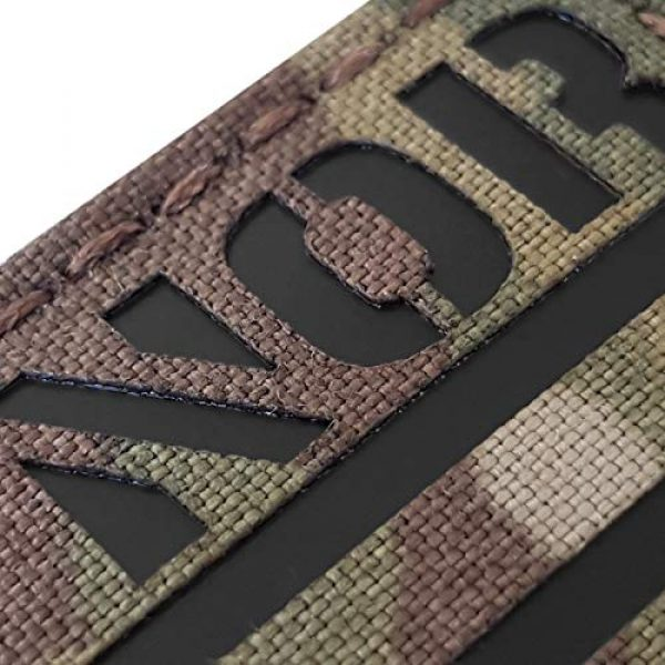Tactical Freaky Airsoft Morale Patch 4 IR Multicam Norway Norge Flag 2x3.5 IFF Infrared Tactical Morale Hook&Loop Patch