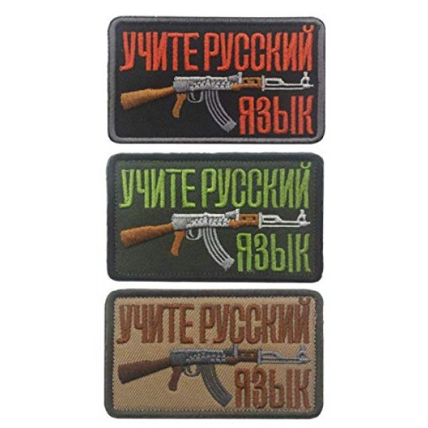 Embroidered Patch Airsoft Morale Patch 1 3pc Soviet Russian AK 47 Kalashnikov Shell Rifle Gun Assault Army Battle 3D Tactical Patch Military Embroidered Morale Tags Badge Embroidered Patch DIY Applique Shoulder Patch Embroidery Gift Patch