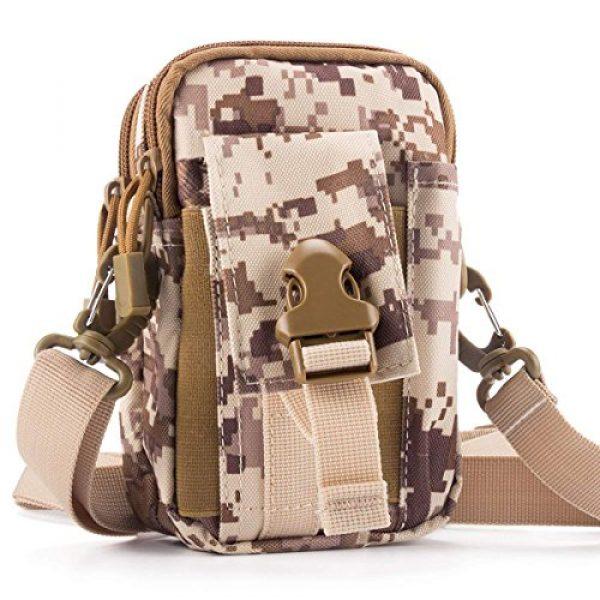 Ailuner Tactical Pouch 2 Tactical Molle Waist Bags, Waterproof Pouch, Universal Men's Outdoor Sport Casual Waist Pack Coin Purse Gear Holster Utility Pouch Phone Case (Desert)