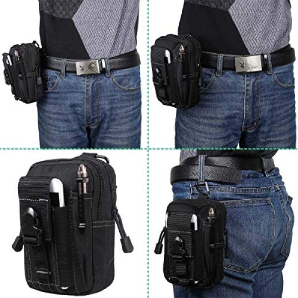 JASLITE Tactical Pouch 7 JASLITE Tactical Molle EDC Pouch, Utility Pouch Bags 1000D Multipurpose Utility Gadget Belt Waist Bag,with Cell Phone Holster Holder, Shoulder Strap