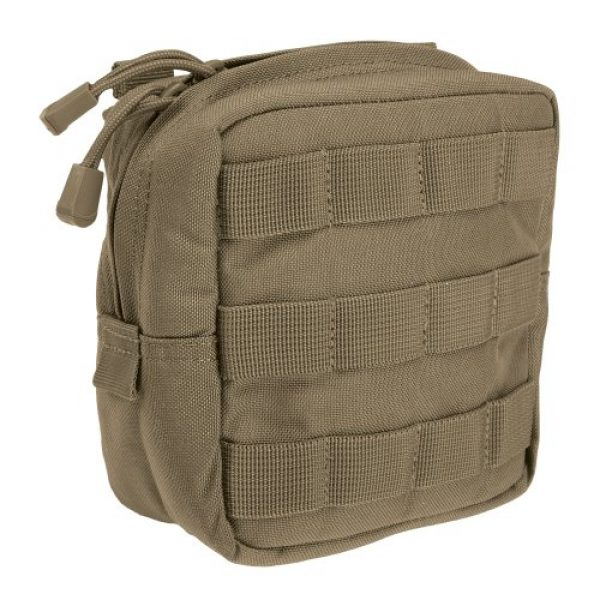 """5.11 Tactical Pouch 1 5.11 Tactical 6"""" x 6"""" All Weather Nylon Molle Padded Pouch, YKK Zipper Hardware, Style 58714"""