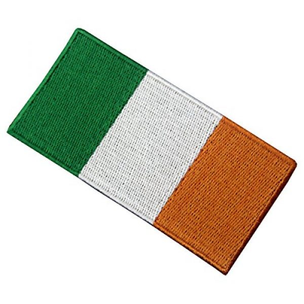 EmbTao Airsoft Morale Patch 3 Republic of Ireland Flag Embroidered Irish National Emblem Iron On Sew On Patch