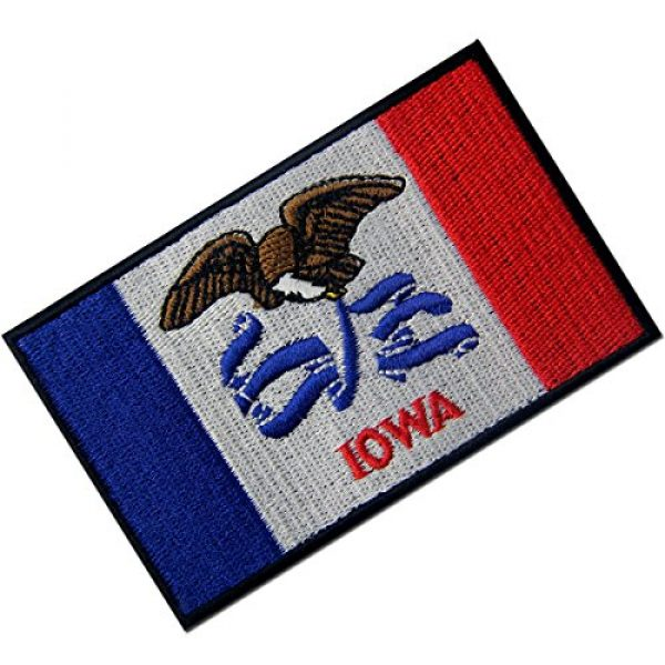 EmbTao Airsoft Morale Patch 3 Iowa State Flag Embroidered Emblem Iron On Sew On IA Patch