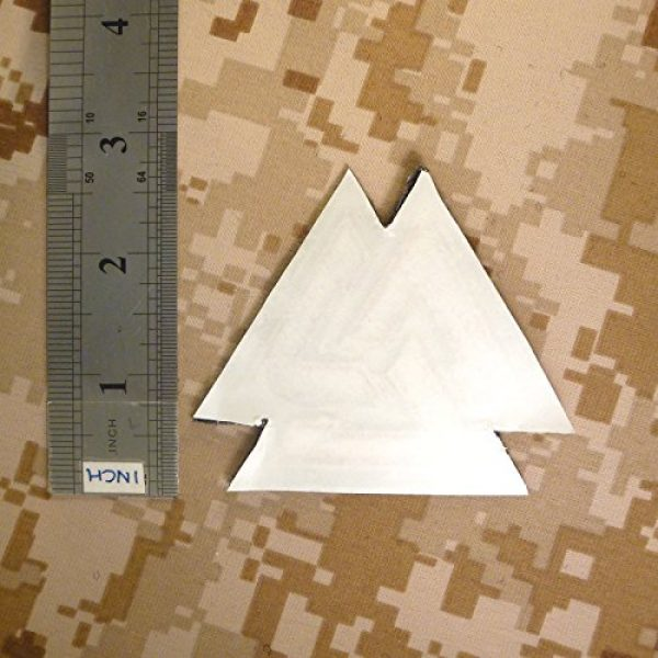 LEGEEON Airsoft Morale Patch 5 LEGEEON Glow Dark Valknut Viking Norse Rune Morale Tactical Sew Iron on Patch